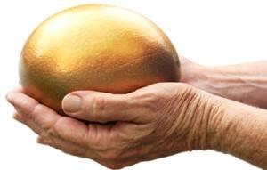 gold retirement egg
